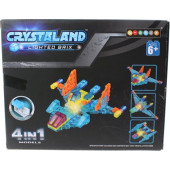 Crystaland bouwset met lichtgevend blokje - 48 dlg