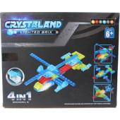 Crystaland bouwset met lichtgevend blokje - 51 dlg