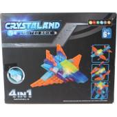Crystaland bouwset met lichtgevend blokje - 61dlg
