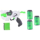 Shooter Pistool Met Foampijlen Wit 26 Cm
