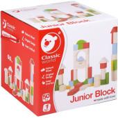Classic World Houten Blokken Junior, 50dlg