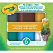 Crayola Acrylverf Aardetinten, 6st.