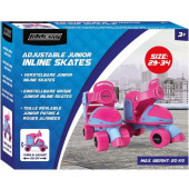 Rolschaatsen/ roller skate Junior Alert - Maat 29-34 - Roze
