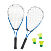 SportX Power Badminton Set in tas / Blauw
