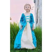 Great Pretenders - Koninginnenjurk Turquoise - (6-8 jaar)