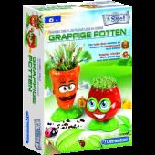 Clementoni Wetenschapsspel Kweek zelf je plantjes in deze Grappige Potten