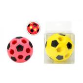 Voetbal met lampje 10x10 cm Rood