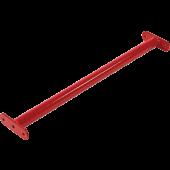 Duikelstang Rood 125 cm + Bevestigingsmateriaal