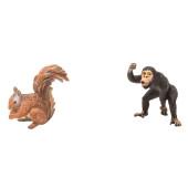 Wilde dieren - set van 2 - Aap en Eekhoorn