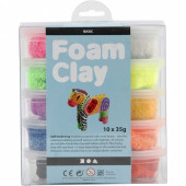 Foam Clay kleiset Basic 10 x 35 gram