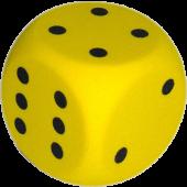 Foam dobbelsteen 16 x 16cm Geel