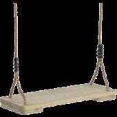Geïmpr Houten Schommelzit -PP touw- (45x19cm)
