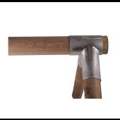 Hoekverbinding Schommel Rond Ø 120x100x100mm - Vuurverzinkt