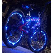 IkziLight Fietswielverlichting 2x20 LED - Blauw