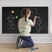 Schoolbordfolie met Krijtjes -  45 x 200 cm