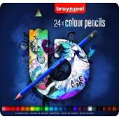 Bruynzeel-Royal Talens blik 24 kleurpotloden - blauw