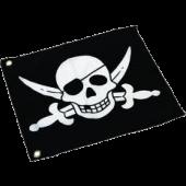 Vlag met hijssysteem Piraat