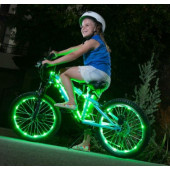 IkziLight Fietswielverlichting 2x20 LED - Groen