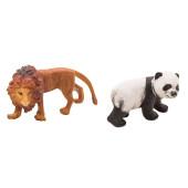 Wilde dieren - set van 2 - Leeuw en Pandabeer