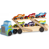 Melissa & Doug - Mega Race-Car Carrier