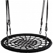 Nestschommel Ø 100 cm zwart - Verstelbaar 140-190cm