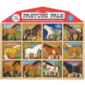 Melissa & Doug - Speelfigurenset in Kabinet (12 dlg) - Paarden