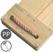 KBT - Geïmpregneerd Grenen Schommelzitje met PP touw