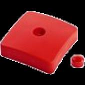 KBT - Paaldop Vierkant Rood 9 x 9 cm
