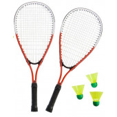 SportX Power Badminton Set in tas / Rood