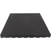 Rubbertegel Zwart 50 x 50 x 2,5 cm