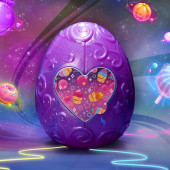Hatchimals Cosmic Candy verassingsei - paars