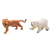 Wilde dieren - set van 2 - Tijger en ijsbeer