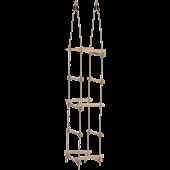 Hermic - Touwladder 4-zijden PP touw met houten sporten (Ø3,5x40cm)