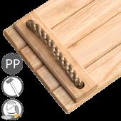 KBT - Hardhouten schommelzitje met PP touw - Vernist