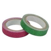 Washi Tape Glitter Rood-Groen