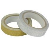 Washi Tape Glitter Zilver-Goud