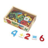 37 Houten Letter Magneetjes in houten kistje