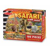 Melissa & Doug - Vloerpuzzel Safari (100)