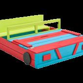 Houten Zandbak Auto Gekleurd (120 x 100 x 20 cm)