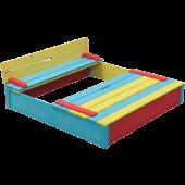 Houten Zandbak Sepp gekleurd (120x120)