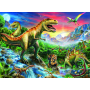 Ravensburger Kinderpuzzel - Bij de Dinosaurussen (100XXL)