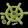 KBT - Bootstuur lime groen voor speeltoren