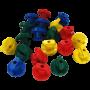 Quadro set van 200 blauwe buisschroefjes