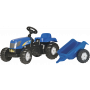 Rolly Toys - rollyKid New Holland T 7040 met aanhanger
