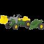 Rolly Toys - rollyKid JD traptractor met lader en aanhanger