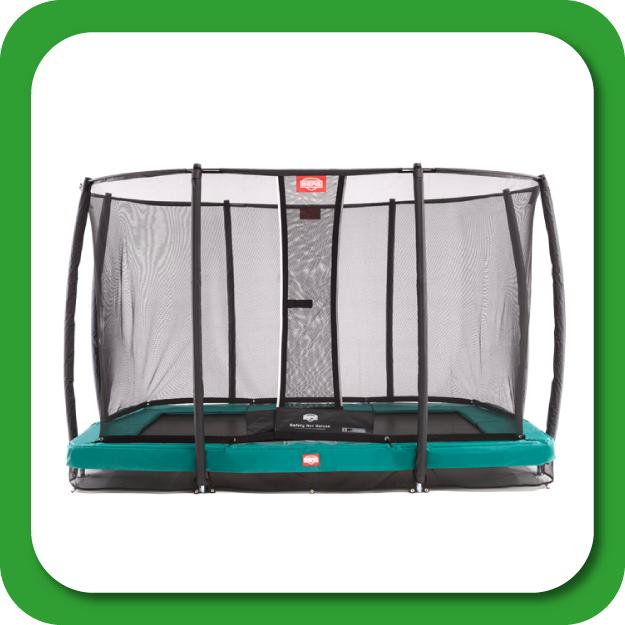 Rechthoekige inground trampolines met net