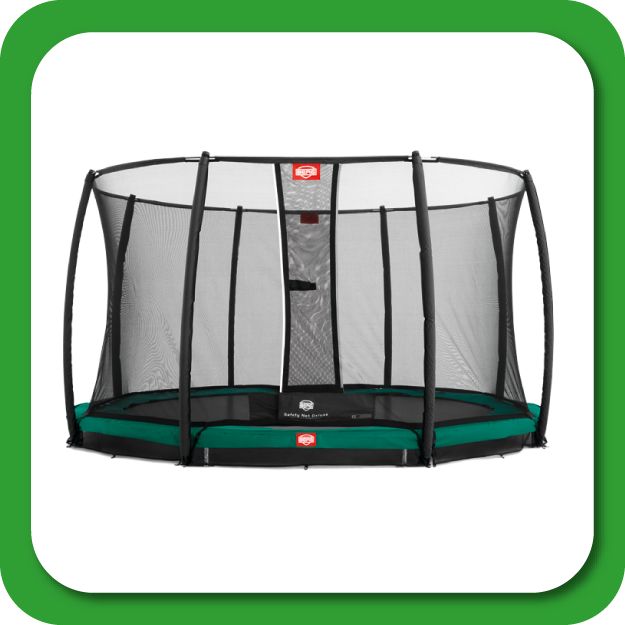 ronde inground trampolines met net